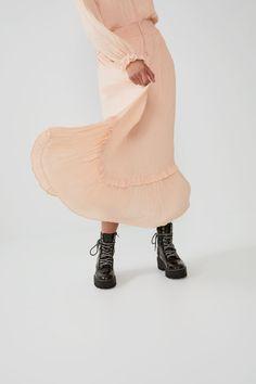 PLEATED VOLUMINOUS DRESS - View all-DRESSES-TRF | ZARA United States Smocks, Maxi Robes, Ballet Fashion, Elastic Waist, Ballet Style, Dresses, United States, Book, Vestidos