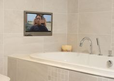 Bathroom Mirror Tv Youtube lombardy platinum ceramic wall tile, pack of 10, (l)400mm (w)250mm