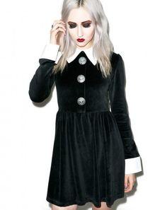 Disturbia Rosemary Velour Dress   Dolls Kill