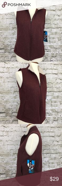 """NEW Kuhl Alfpaca Fleeze Full Zip Up Vest New KUHL Women's Alfpaca Fleece Size Medium Burgundy Full Zip Vest M NWT  Measurements are taken with unstretched garment laying flat.  Length: 23"""" Armpit to armpit: 19"""" Sleeve: 17""""  Color: See pics Condition: New with tags.  E-29 Kuhl Jackets & Coats Vests"""