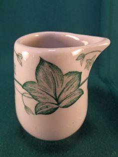 """Vintage Restaurant Ware Green Ivy Individual Creamer 3"""" picclick.com"""