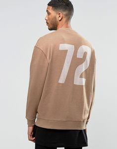 Image 1 of ASOS Extreme Oversized Jersey Bomber Jacket With Burnout Number Print