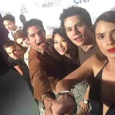 Shelley Hennig, Dylan O'Brien, Arden Cho, Tyler Posey, Holland Roden, Dylan Sprayberry, and Crystal Reed