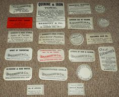 20 x Antique Pharmacy Chemist Labels c1900  by HarrysCollectables