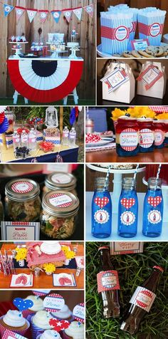 4th of July Patriotic Party Ideas! TONS of inspiration! Via Karas Party Ideas KarasPartyIdeas.com #4th #july #party #ideas #memorial #day #recipes #treats #picnic #printables