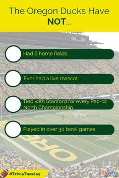 Which of the following is FALSE about the Oregon Ducks? #TriviaTuesday #GoDucks