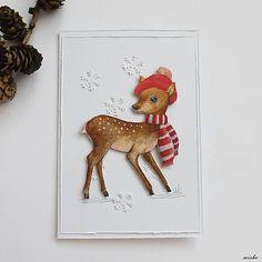 misha_cards / ❄Vianočná pohľadnica❄