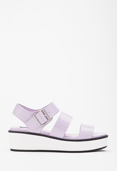 totally cute sandals Faux Leather Flatform Sandals | Forever 21 - 2000098593