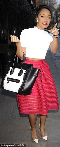 c3adc122aa71f Leigh-Anne Pinnock and Jade Thirlwall opt for pretty midi skirts  dailymail  Gowns Of