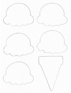 Food Crafts - Print your Ice Cream Cone Template at AllKidsNetwork. Ice Cream Cone Craft, Ice Cream Crafts, Ice Cream Theme, Ice Cream Party, Kids Crafts, Preschool Activities, Arts And Crafts, Paper Crafts, Preschool Summer Crafts
