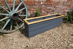 Rustic Wooden Planters - Handmade in Norfolk Indoor & outdoor use (Weatherproof) Made from Redwood timber Choice of sizes and colours and liner available Planters measure: Depth 22cm, Height 36cm, Length 40cm - 120cm Free UK Mainland delivery We also accept custom orders More planters available