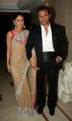Kareena Kapoor's lace sari