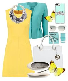 """""""Spring outfit 2017"""" by kaurcoffee ❤ liked on Polyvore featuring Precis Petite, Ray-Ban, Diane Von Furstenberg, Michael Kors, Reyes, Nails Inc. and Casetify"""