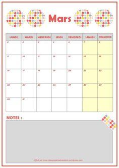 Planning mars 2015