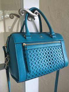 Kate Spade Perri Lane Bubbles Delaney Satchel Neon Turquoise WKRU2867 | eBay