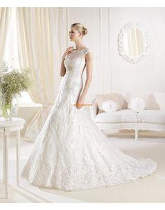 Elegant & Lyxig Kristalldetalj Dragkedja Lyx Bröllopsklänningar