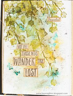 Layers of ink - Ivy Art Journal Page by Anna-Karin Evaldsson