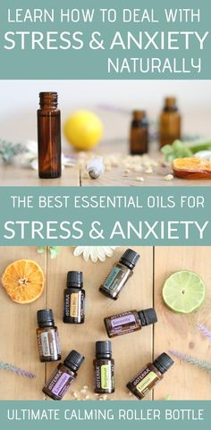 Essential oils, natural remedies, and non toxic ways to deal with stress and anxiety. How to use essential oils internally to calm the nervous system and reduce stress. Essential Oils For Anxiety, Best Essential Oils, Essential Oil Blends, Calming Essential Oils, Stress Relief Essential Oils, Infection Des Sinus, Roller Bottle Recipes, Dealing With Stress, Best Oils