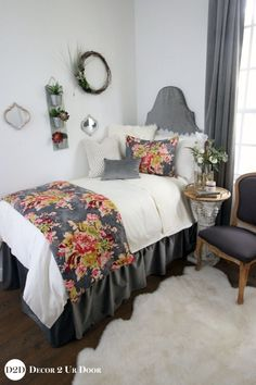 Amazing Luxury With A Pop! This Multi Color Floral Print Features Grey, Pink,
