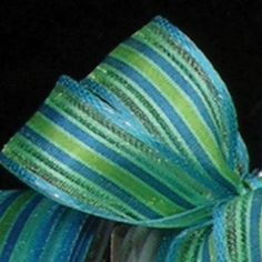 Green and Blue Striped Wired Craft Ribbon 625 x 108 Yards >>> You can get more details by clicking on the image.