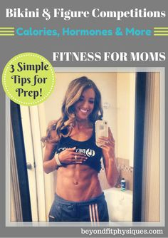 As a busy mom, I did three things to get lean and get in show shape for my bikini competition… Eat the right things (both quantity & quality), take advantage of hormones for optimal body change, and cycle carbs. I changed my diet during each week of prep, but these principles have stayed the same… Read about the 3 SIMPLE tips for prep here: http://beyondfitphysiques.com/bikini-figure-competition-calorie/
