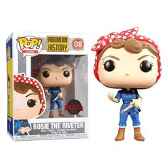 Funko American History - Rosie the Riveter Pop! Vinyl Figure at Toys R Us - Funko American History – Rosie the Riveter Pop! Vinyl Figure at Toys R Us - Funko Pop Dolls, Funko Pop Figures, Pop Vinyl Figures, Best Funko Pop, Pop Figurine, Funk Pop, Disney Pop, Pop Toys, Pop Collection