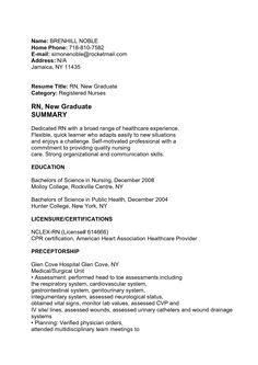 Cover Letter Sample For New Graduate Nurse Humantersakiti404