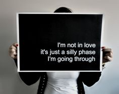Poster Typography Print Not in Love  185 x 13 by SacredandProfane, $22.00