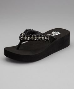 78c386c6c Take a look at this Black Pearla Flip-Flop by Yellow Box Shoes on