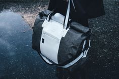 #waterproof #duffel #weekender #drybag #waterproofbag #blackandwhitefashion #travelessentials #unisexfashion #urban #urbanwear #minimalistfashion