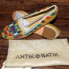 ANTIK BATIK Flats Embellished Native Bohemian Shoe Available Sizes: 7 (Euro 37) and 10 (Euro 40). New with bag & tags. $328 Retail + Tax.  • Southwestern loafers with native beaded detailing. • Leather insoles, seed bead upper. • Rounded, slip on, slightly point toe flats, ballet style.  • True to size • Measurements provided in comment(s) section below.  {Southern Girl Fashion - Closet Policy}   ✔️ Same-Business-Day Shipping (10am CT). ✔️ Reasonable best offer considered when submitted with…