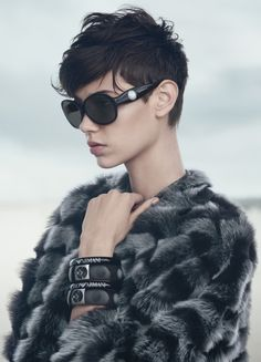 Amra Cerkezovic, Benthe de Vries, Alex Wilms, Matt Trethe by Boo George for Emporio Armani Fall Winter 2014-2015