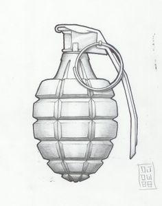 traditional grenadetattoo designs | grenade by metronomicon-designs