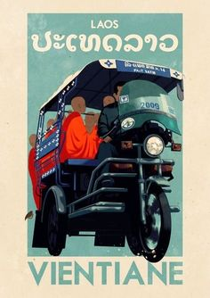Vientiane- old travel posters. check out this pin board when you are just wanting to browse. some really beautiful and interesting.