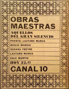 Publicidad de programación. CANAL 10, Córdoba, 1967.