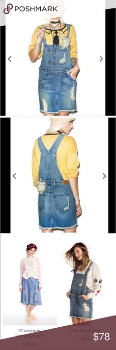 $100 OFF MDW Sale! Wildfox NWT Artists Dungarees So comfy and so super cute! You'll luv wearing these for year round fun! Goes great bra tops, cropped tops, tees, tanks, sweaters and more! Perfect casual or you can dress them up! Where you're an artist, a lover of the arts, or just having fun, you'll fall in love w these soft and comfortable just in style dungarees by Wildfox!! Wildfox Jeans Overalls