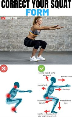 It's sometimes referred to as the king of all exercises, and for good reason. The squat is a full-body fitness staple that works your glutes, quads, and hamstrings and sneakily strengthens your core. Squat Workout, Gym Workout Tips, Fitness Workout For Women, Workout Challenge, At Home Workouts, Squats At Home, Squat Exercise, Butt Workouts, Workout Plans