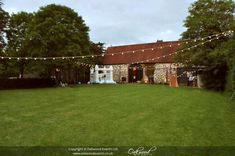 Outdoor festoon lighting for a spring barn wedding at the Monks Barn Hurley Barn Wedding Lighting, Event Lighting, Outdoor Lighting, Canopy Lights, Festoon Lights, Village Fete, The Monks, Paper Lanterns, Fairy Lights
