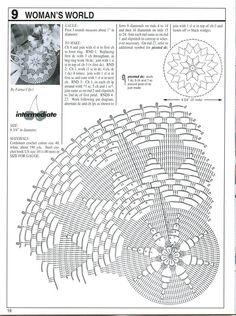 Decorative Crochet Magazines 96 - 2003 - - Álbuns da web do Picasa Crochet Doily Diagram, Crochet Chart, Filet Crochet, Crochet Motif, Crochet Doilies, Knit Crochet, Crochet Thread Patterns, Doily Patterns, Pineapple Crochet