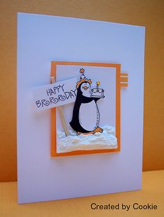 Happy Brrrday by StampGroover - Cards and Paper Crafts at Splitcoaststampers