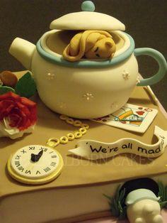Alice in Wonderland 21st Birthday cake - by Helen Alborn @ CakesDecor.com - cake decorating website