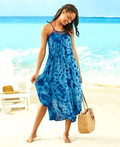 The Women's Cover-Up Swing Dress offers a flattering look, whether you're spending a day on the water or running errands
