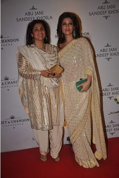 Abu Jani & Sandeep Khosla. Apparently, Dimple Kapadia was their first muse. We can see why... :)