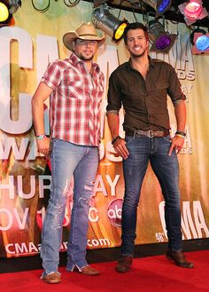 Jason Aldean and Luke Bryan. He's so perfect.