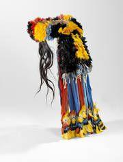 coiffe couvre-nuque du Brésil © musée du quai Branly, photo Claude Germain