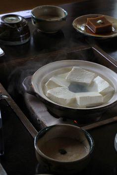 湯豆腐 yudoufu , boiled tofu, Okutan Kiyomizu Kyoto