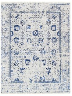 Pasargad Transitiona Hand-Knotted Silk & Wool Rug