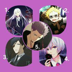 ~Hamatora the animation~ 1. Moral 2. Birthday 3. Ratio 4. Art 5. Murasaki