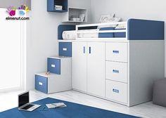 Resultado de imagen para cama alta infantil escritorio