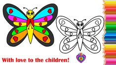 How to Draw Rainbow Butterfly Drawing Coloring \Drawing for Kids